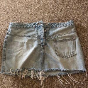 Jcrew denim mini skirt